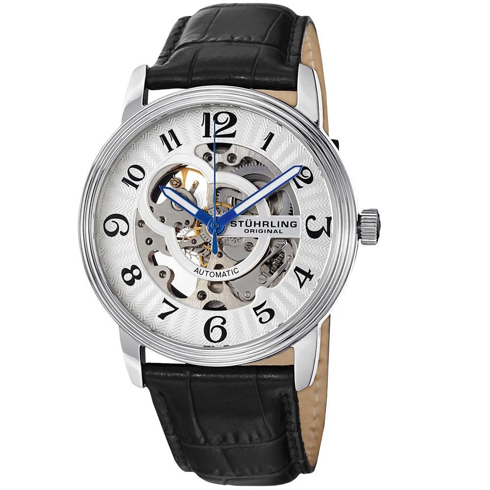 4a8603495 Shop Stuhrling Original Men's Othello Skeleton Automatic Watch ...