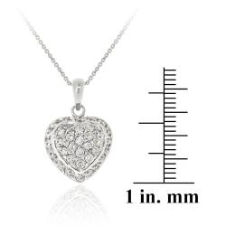 Icz Stonez Sterling Silver Cubic Zirconia Heart Locket Necklace - Thumbnail 2