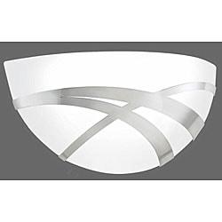 Thomas White Art Glass Brushed Nickel ADA 1-light Wall Sconce