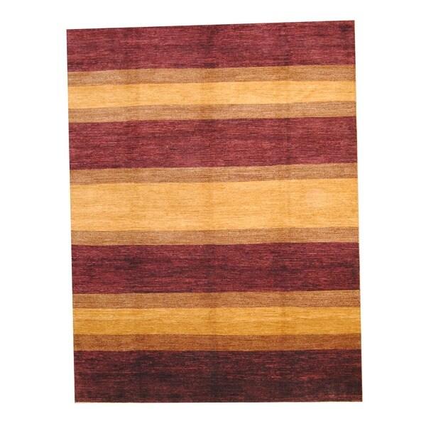 Handmade Herat Oriental Afghan Vegetable Dye Wool Rug - 9' x 12' (Afghanistan)
