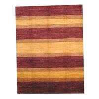 Herat Oriental Afghan Hand-knotted Vegetable Dye Wool Rug - 9' x 12'