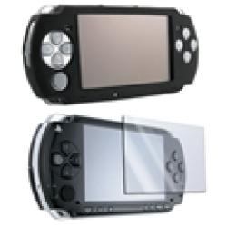 Insten Black Silicone Case and Screen Protector for Sony PSP 3000 (Pack of 2) - Thumbnail 1