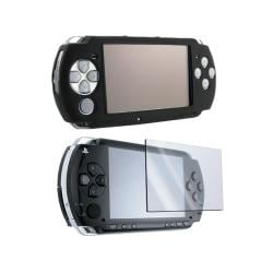 Insten Black Silicone Case and Screen Protector for Sony PSP 3000 (Pack of 2)