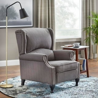 Simple Living Upholstered Wing Recliner