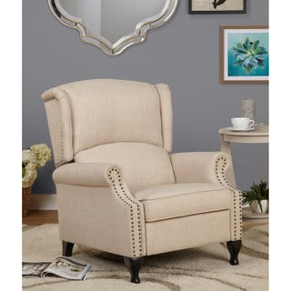 Simple Living Upholstered Wing Recliner (2 options available)