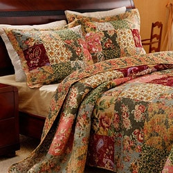 Greenland Home Fashions Antique Chic Quilted Shams (Set of 2)