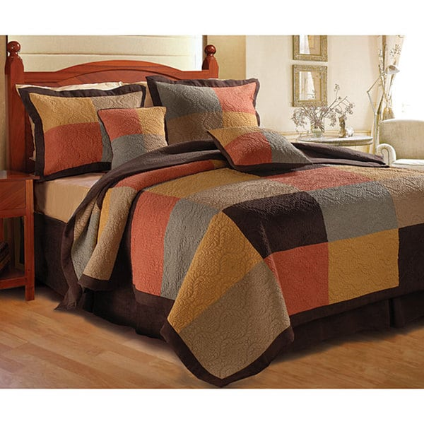 Greenland Home Fashions Trafalgar Quilted Cotton Pillow Shams (Set of 2)