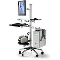 Cotytech Adjustable Ergonomic Mobile Computer Workstation Desk