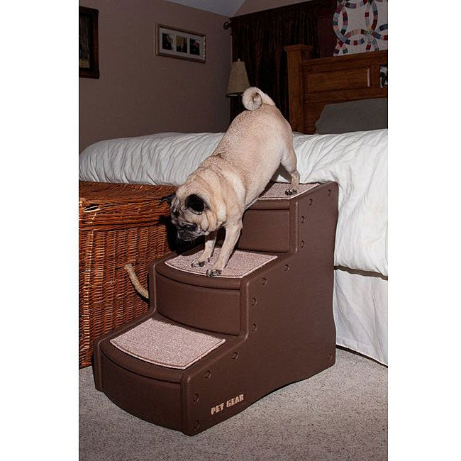 Pet Gear Easy Step III Pet Stair (Chocolate), Brown
