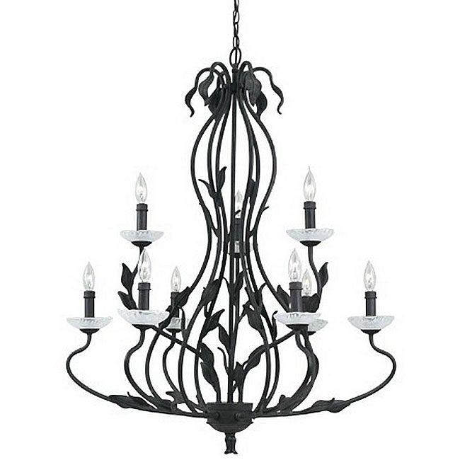 Ironwood 9-light Bronze Florentine Chandelier