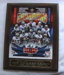 NFL New Orleans Saints Super Bowl 2009 Winner Picture Plaque - Thumbnail 1