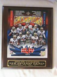 NFL New Orleans Saints Super Bowl 2009 Winner Picture Plaque - Thumbnail 2