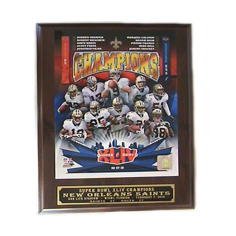 NFL New Orleans Saints Super Bowl 2009 Winner Picture Plaque