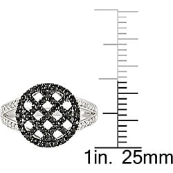 Miadora 10k Gold 1/3ct TDW Black and White Diamond Ring - Thumbnail 2