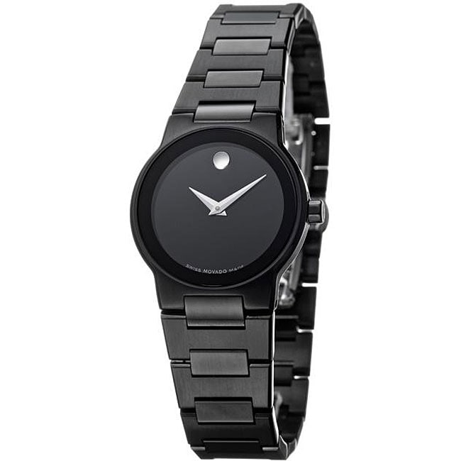 697c8bb18ffd Shop Movado Women s Safiro Black PVD Stainless Steel Watch - Free Shipping  Today - Overstock - 4694428