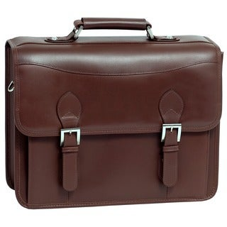 Siamod Belvedere Double Compartment Leather Laptop Case