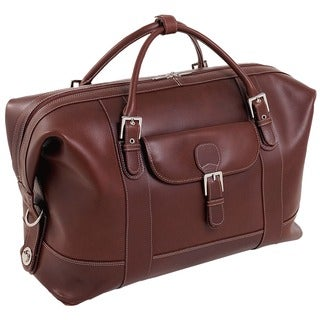 Siamod Amore 21-inch Durable Leather Carry-on Laptop Duffel Bag