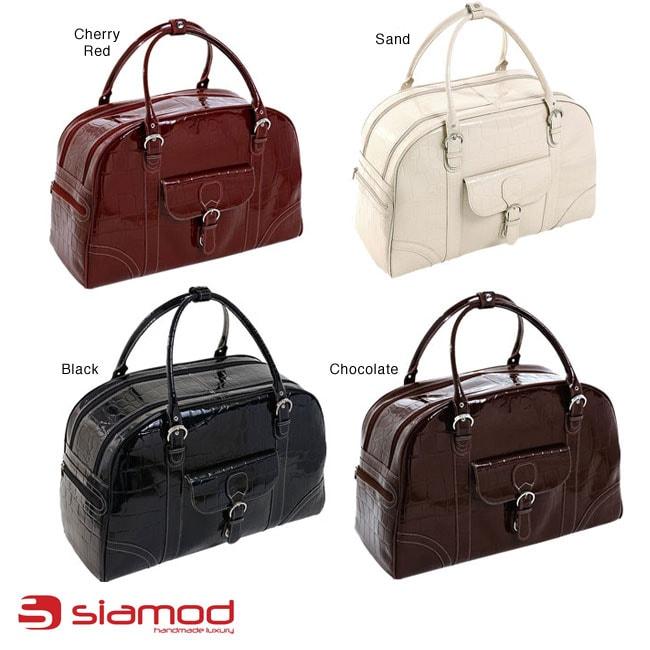 Siamod Buranco Leather Women's 20-inch Carry On Duffel Bag - Free ...