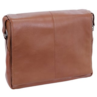 Siamod San Francesco Leather Unisex Multi-pocket Laptop Messenger Bag (2 options available)