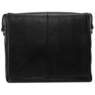 Siamod San Francesco Leather Unisex Multi-pocket Laptop Messenger Bag