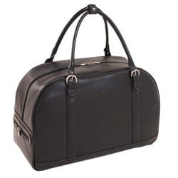 Siamod Stalla Leather Strapped 21-inch Carry-on Travel Duffel Bag