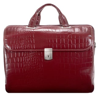 Siamod Women's Settembre Medium Leather Laptop Briefcase (Option: Cherry Red)