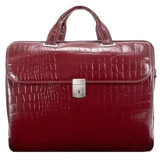 Siamod Womens Settembre Medium Leather Laptop Briefcase Deals