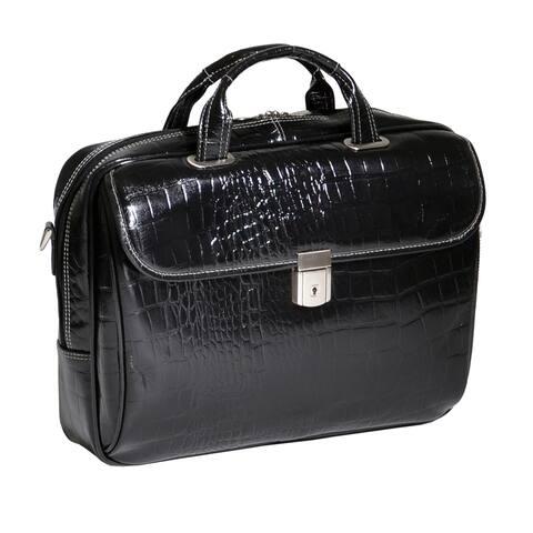 Siamod Servano Small Leather 13.3-inch Laptop Briefcase