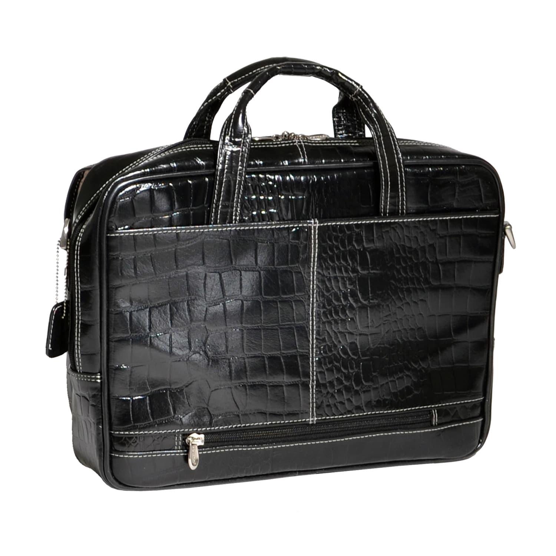 Vintage Leather Briefcase Men 13 Laptop Shoulder Bag Satchel