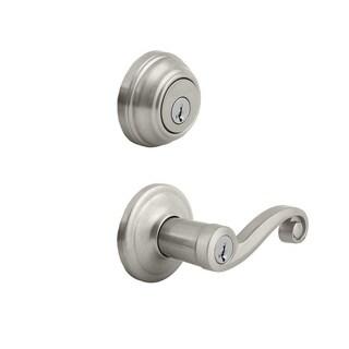 Kwikset Veneitan Bronze Smartkey Lido Door Lock Combo Pack