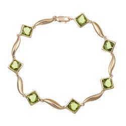 Sofia 14k Yellow Gold Peridot Link Bracelet