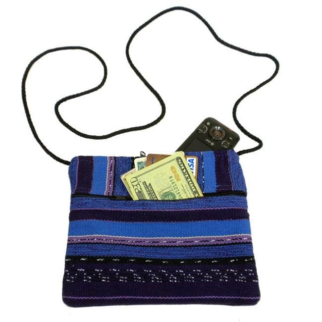Guatemalan Artisan Purple Woven Ladies' San Juan Weekend Bag
