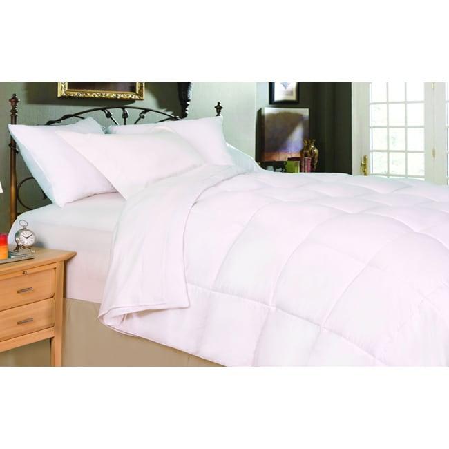 shop oversized lightweight king size down alternative comforter free shipping today. Black Bedroom Furniture Sets. Home Design Ideas