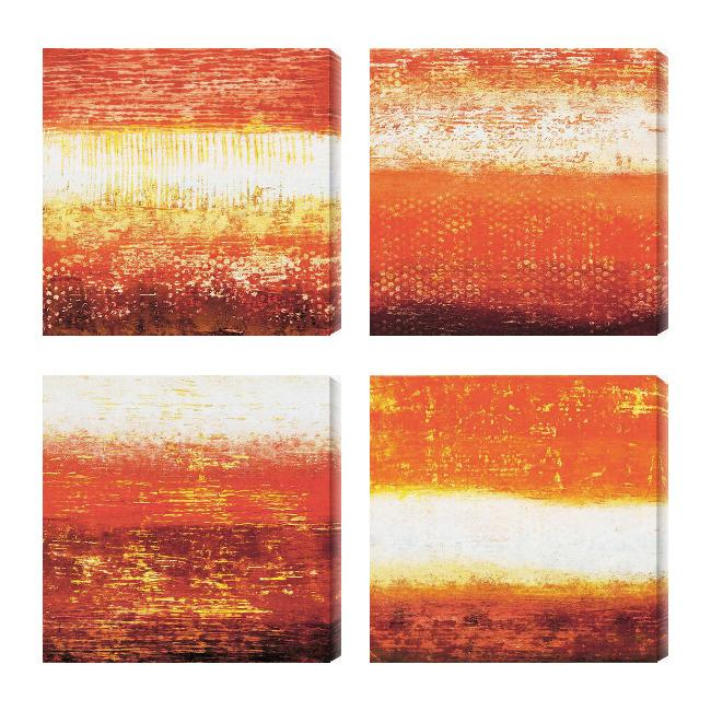 Gallery Direct Benjamin Arnot 'Red Strata I-IV' Giclee Canvas Art (Set of 4)