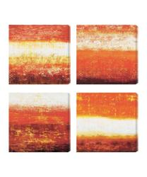 Gallery Direct Benjamin Arnot 'Red Strata I-IV' Giclee Canvas Art (Set of 4) - Thumbnail 1