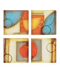 Gallery Direct DeRosier 'Blue and Orange I-IV' Giclee Canvas Artwork (Set of 4)
