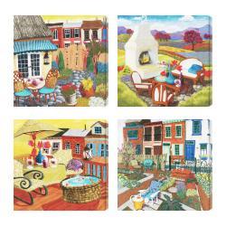 Gallery Direct Susie Webster 'Urban Series' 4-piece Canvas Art Set