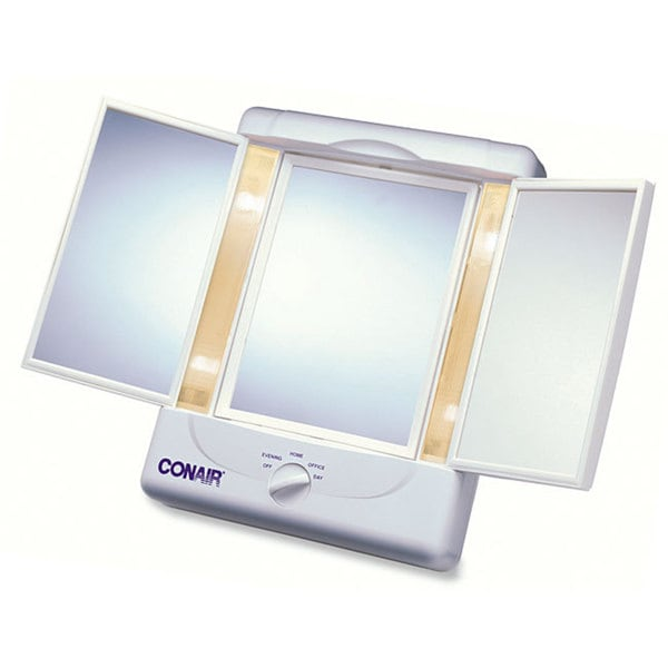 Conair Illumina Collection 1x/ 5x Lighted 3-panel Make-up Mirror