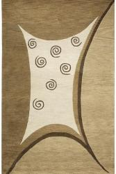 Alliyah Handmade Beige New Zealand Blend Wool Rug (8' x 10') - Thumbnail 1