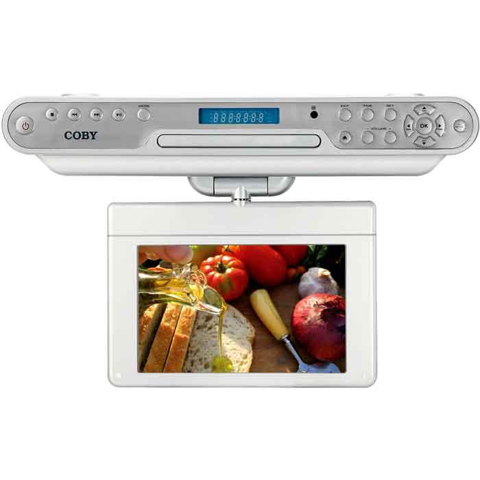 Coby 10.2-inch Under-cabinet DVD/ TV