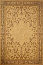 Mosaic Wheat Border Rug (4'11 x 7'6) - Thumbnail 1