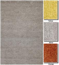Hand-woven Mandara Shag Wool Rug (7'9 Round) - Thumbnail 1
