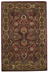 Alliyah Handmade Pompean Red New Zealand Blend Wool Rug (5' x 8')