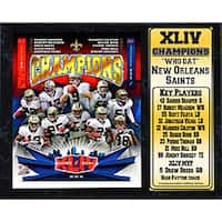Super Bowl XLIV Champion New Orleans Saints Stat Plaque (12 x 15)
