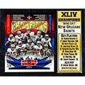 Super Bowl XLIV Champion New Orleans Saints Stat Plaque (12 x 15)