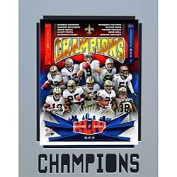 Super Bowl XLIV Champions New Orleans Saints Matted Photo