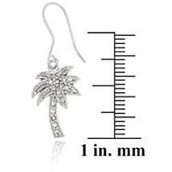 Thumbnail 2, Icz Stonez Sterling Silver Cubic Zirconia Palm Tree Earrings. Changes active main hero.
