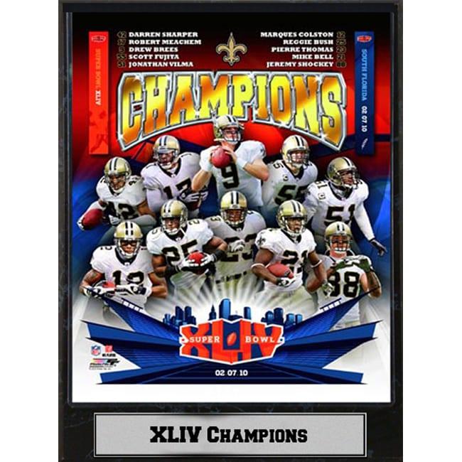 2a52c0e4 Super Bowl XLIV Champion New Orleans Saints Plaque