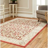 Safavieh Paradise Eden Tranquil Red/ Ivory Viscose Rug - 5'3 x 7'6