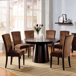 Furniture of America Amari Velvet 7-piece Dining Furniture Set